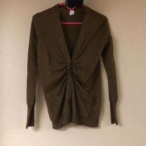 J.Crew Ruched Snap Front Cardigan